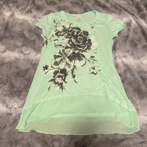 Long green top